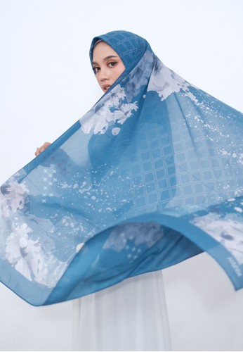Harra Scarves white and blue and multi Mother Earth Series - Blue Ocean 1FAC3AAA865AC0GS_1
