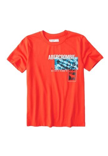 Abercrombie & Fitch orange Photoreal Print Logo T-Shirt 7BD41KA108E7EEGS_1