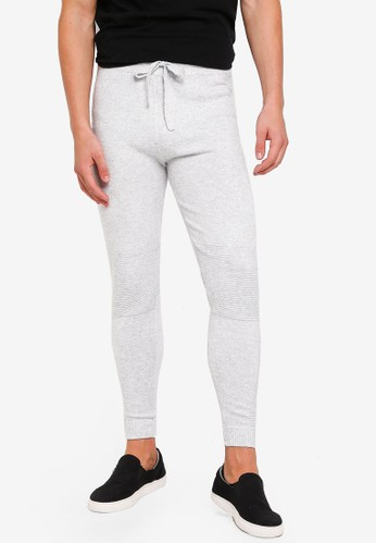 River Island grey Soft Grey Jogger Pants 51618AA299F1A6GS_1