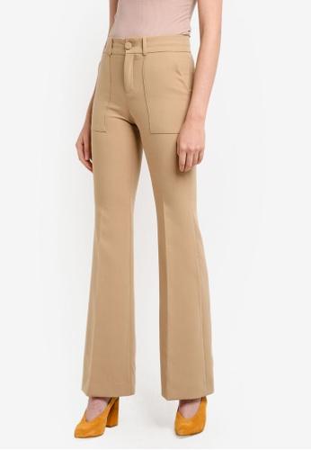 Mango brown Flared Trousers MA193AA0RUZJMY_1