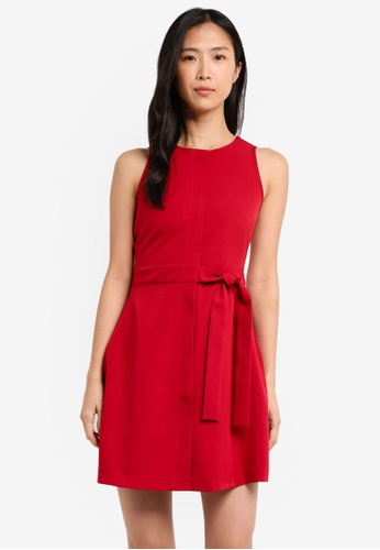 ZALORA red Self Tie Dress 95B20AA4A564AFGS_1