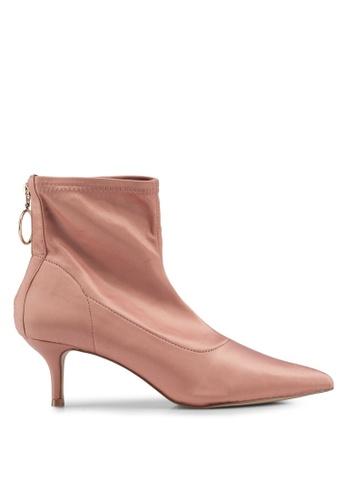 Buy Miss Selfridge Amor Satin Kitten Heel Boots Zalora Hk