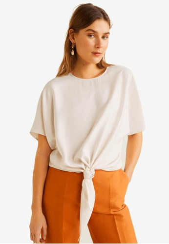 af5f7edacee8c Shop MANGO Knot Detail Blouse Online on ZALORA Philippines