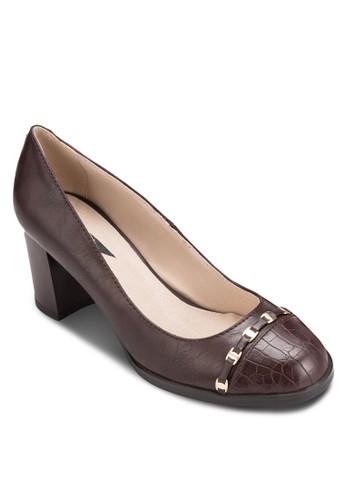 扣環粗跟淑女鞋, 女esprit holdings鞋, 鞋