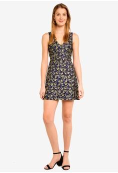 ce3ccca834be 60% OFF Miss Selfridge Black Floral Jacquard Mini Dress S  106.00 NOW S   42.90 Sizes 6 8 10