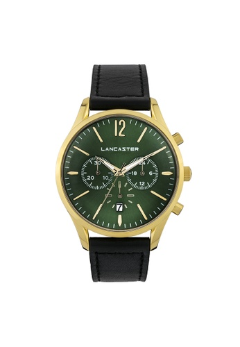 Lancaster Paris black and green and gold Heritage Chronograph LA452AC0GJD8SG_1