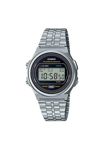 Casio silver CASIO GENERAL A171WE-1ADF STAINLESS STEEL UNISEX'S WATCH C31E3AC328F511GS_1