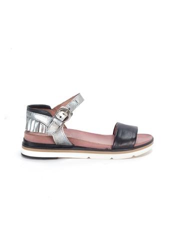 Shu Talk black Simple Comfy Sandals with Ruffles Ankle Straps C6845SH8A49C99GS_1