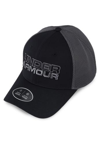 Under Armour black Men's UA Sportstyle Mesh Cap CC0D1ACB608124GS_1