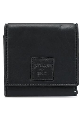 SUPERDRY black Small Fold Purse D9651ACA848221GS_1