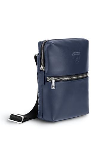 Lamborghini blue Automobili Lamborghini® Pure Blue Calf Leather Bodybag Made in Italy 38A3AAC2CF57F8GS_1