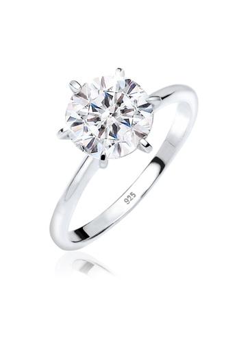 Elli Germany silver Elli Germany Ring 925 Sterling Silver Swarovski  Crystals 83E65AC1CF3A2DGS 1 892ac27813