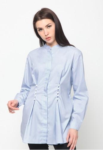 Osella blue Osella baju perempuan Kemeja lengan panjang Baby Blue  F7678AA95164B0GS 1 a286f187d4