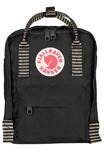 Fjallraven Kanken black Black-Striped Kanken Mini Backpack FC449AC0D7E0A3GS_1