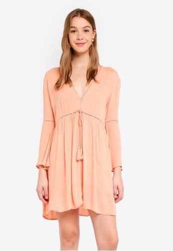 Dorothy Perkins orange Apricot Tassel Beach Throw On Dress EC279AA7C275A2GS_1