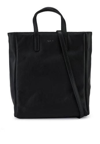 agnès b. black Shoulder Tote Bag CFD8EACBC4F3DEGS_1