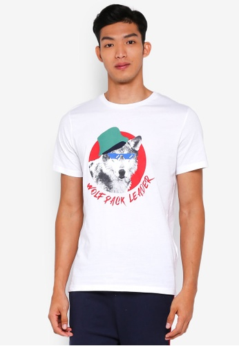Jack & Jones 白色 休閒印花T恤 C7939AA27F6D7AGS_1