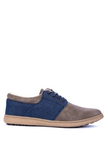 Gibi green and blue TM 3010 Smart Casual Shoes 0BA73SH17B3184GS_1