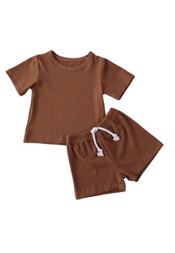 RAISING LITTLE brown Skyler Outfit Set EFC97KA6A38B61GS_1
