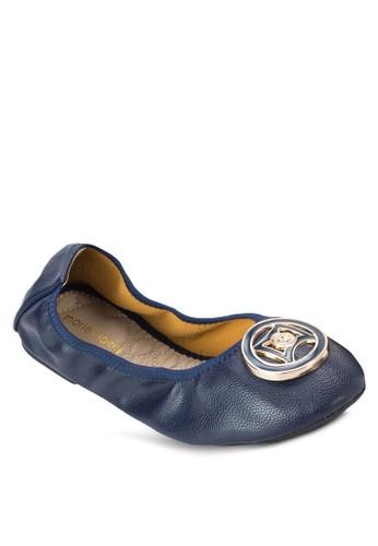 Floesprit outlet台北rissa 扣環仿皮平底鞋, 女鞋, 芭蕾平底鞋