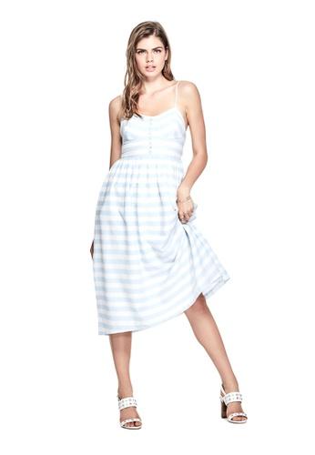 Guess blue Caterina Striped Dress GU020AA0GVCRSG_1