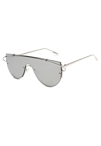 Amora Scarlett Xander Eyewear in Silver Reflective Silver Chrome Frame 19492GL4F6FC0FGS_1