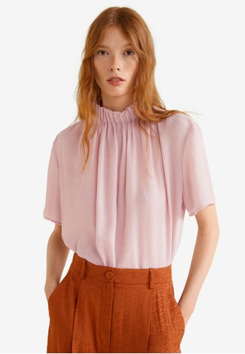 Mango pink Turtleneck Blouse 897E6AAC504EFEGS_1