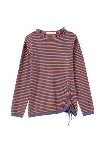 Its Me multi Fashion Drawstring Striped Sweater 9AFA0AA0153177GS_1