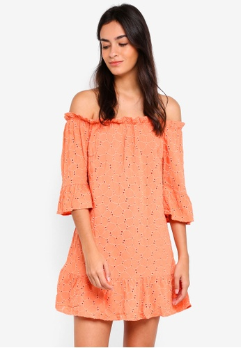 Cotton On multi Woven Bobby Off The Shoulder Dress 199BEAAA754BA4GS_1