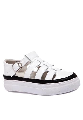 Twenty Eight Shoes white Roman Platform Shoes VC5166 1E69ESHF5401C1GS_1