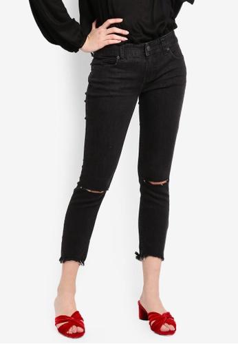 Free People black Destroyed Skinny Jeans 51430AA2AEF631GS_1