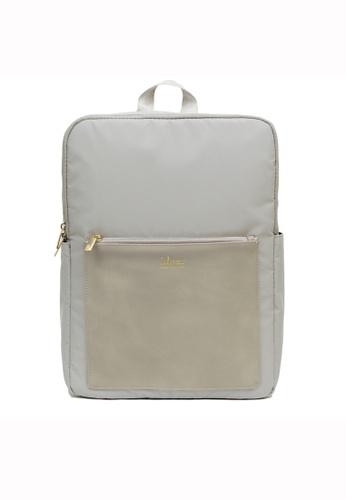 ideer grey Kendall Stone Grey Water-repellent Backpack ID960AC91HPSHK_1