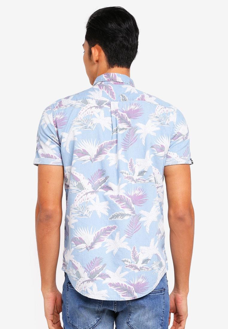 Paradise Short Loom Superdry Hibiscus Miami Sleeve Shirt qxTHwdX