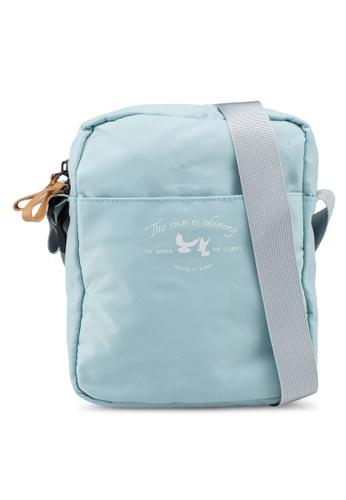 Bagstationz green Lightweight Travel Sling Bag A64FFAC09D8E1EGS_1