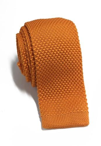 Splice Cufflinks Interlace Series Bright Orange Knitted Tie SP744AC85KTISG_1