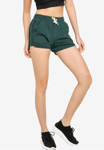 UniqTee green Fitness Shorts with Elastic Waistband CDE11AA06532C1GS_1