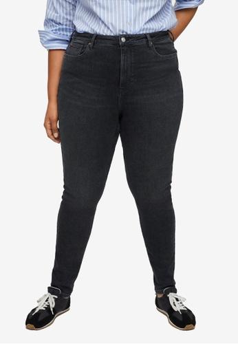 Violeta by MANGO grey Plus Size Soho Skinny Jeans BF69AAAB790CA8GS_1