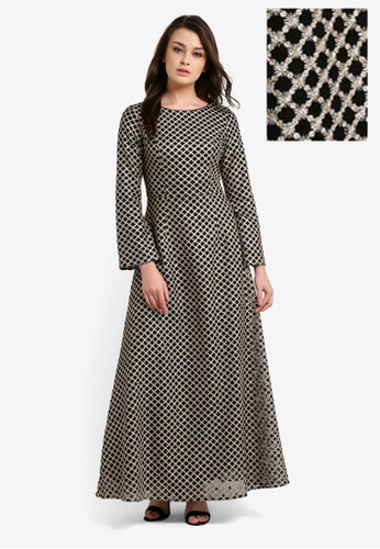 Zalia black Embellished Mesh Mermaid Dress 66896AA98F442BGS_1