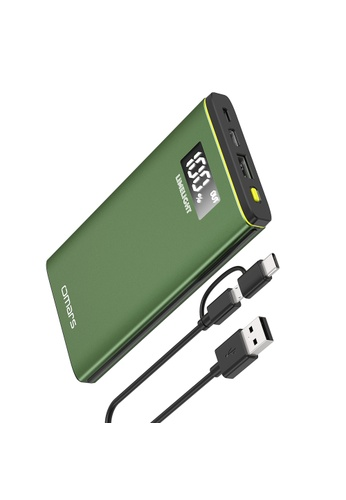 Omars green 10000mAh Portable PD Power Bank, USB-C With PD 18W & USB-A Support 18W Fast Charging Protocol 9A45BES4790914GS_1