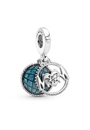 Pandora blue Glitter Globe Mum Dangle Charm DEC36ACD266938GS_1