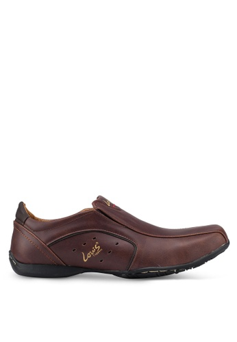 Louis Cuppers brown Faux Leather Shoes 9788CSH5F5682BGS_1
