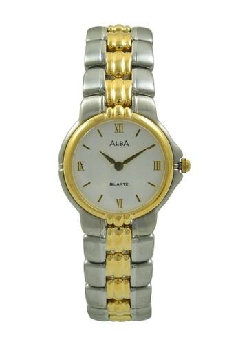 ALBA gold and silver ALBA Jam Tangan Wanita - Silver Gold White - Stainless  Steel - b9b40ce284