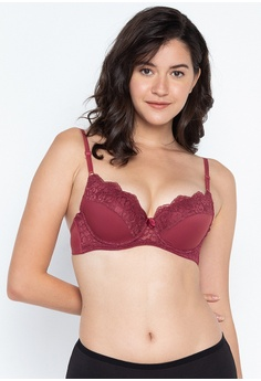 6cd34c2fe94 Barbizon red Movable Half Cup Bra 537E1US43D6FEAGS 1
