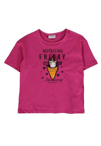 LC Waikiki pink Unicorn T-Shirt 21720KA1A0FF7FGS_1