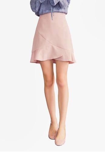 Yoco pink Frill Mini Skirt 2BCEAAA77B0A88GS_1