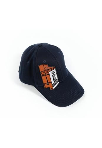 WEAVISM orange and navy DIY CAP - Navy - Orange 3A859ACDCAAFD9GS_1