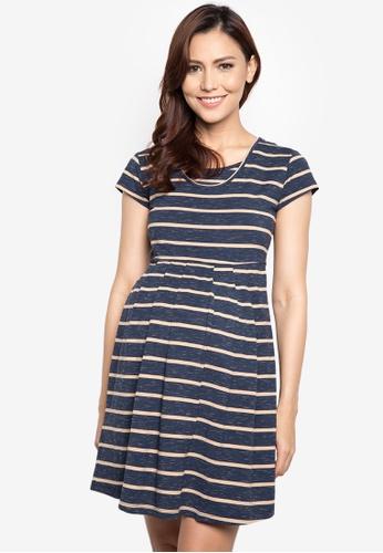 Mamaway blue Stripes Maternity and Nursing Tea Dress MA263AA34TFTPH_1