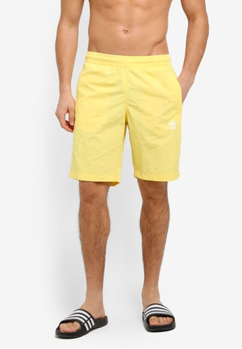 adidas yellow adidas originals 3-stripes swim shorts AD372AA0SUP1MY_1