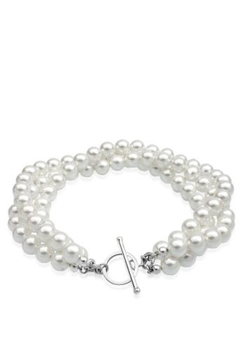 ELLI GERMANY white Elli Germany 925 Silver Pearl Freshwater Bracelet 76C6AACC27FD9EGS_1