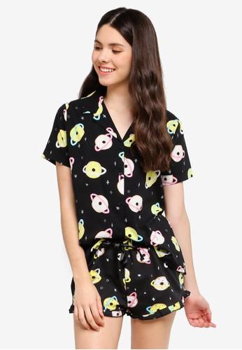 Supre black and multi Cotton Sleep Shirt 19610AA82AF2E9GS_1